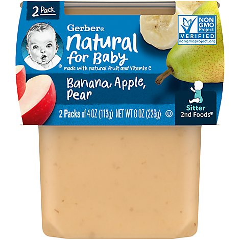 Gerber 2nd Foods Baby Food Bananas With Apples & Pears - 2-4 Oz