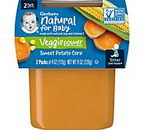 Gerber 2nd Foods Baby Food Sweet Potatoes & Corn - 2-4 Oz