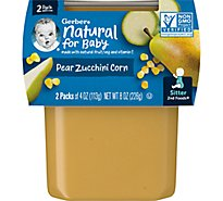 Gerber 2nd Foods Baby Food Pear Zucchini Corn - 2-4 Oz