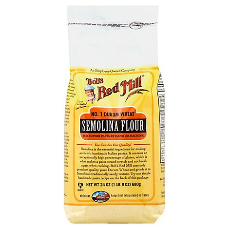 Bobs Red Mill Flour Semolina Pasta - 24 Oz