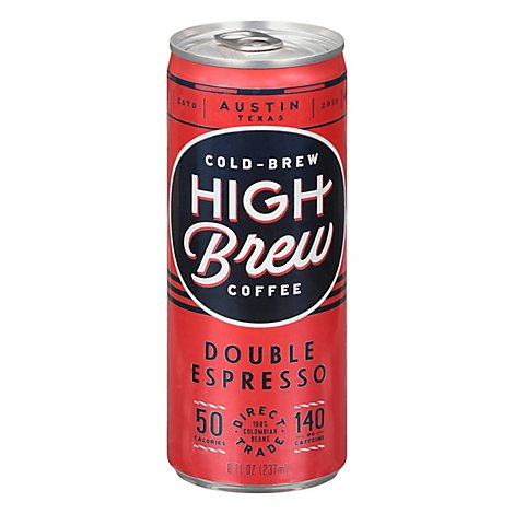 High Brew Coffee Cold-Brew Double Espresso - 8 Oz