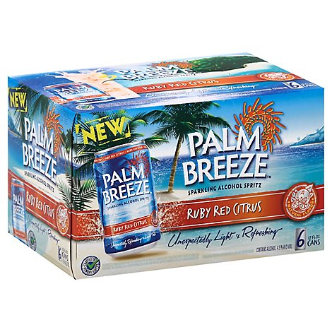 Palm Breeze Ruby Red Citrus In Cans - 6-12 Fl. Oz.