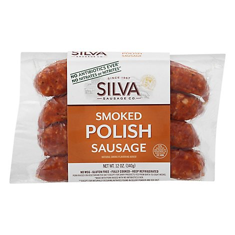 Silva All Natural Polish Sausage Links - 12 Oz