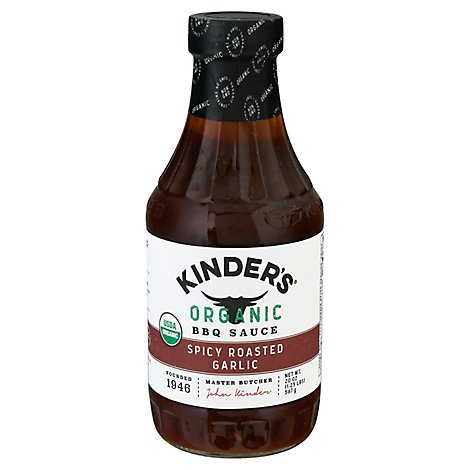 Kinders Organic Sauce BBQ Spicy Roasted Garlic - 20 Oz