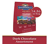 Ghirardelli Chocolate Squares Dark Chocolate Assortment - 14.86 Oz