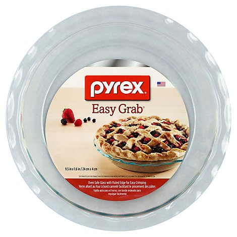 Pyrex Easy Grab Pie Plate Round 9.5 Inch - Each