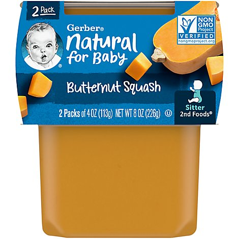 Gerber 2nd Foods Baby Food Butternut Squash - 2-4 Oz