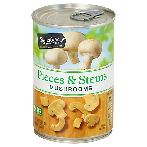 Signature SELECT Mushrooms Pieces & Stems - 14 Oz