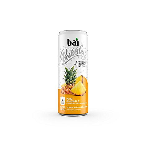 bai Bubbles Antioxidant Infusion Beverage Sparkling Peru Pineapple - 11.5 Fl. Oz.