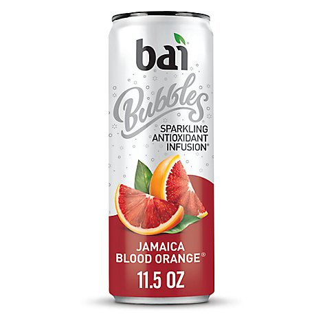 bai Bubbles Antioxidant Infusion Beverage Sparkling Jamaica Blood Orange - 11.5 Fl. Oz.