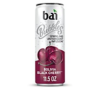 Bai Bubbles Water Sparkling Antioxidant Infusion Bolivia Black Cherry - 11.5 Fl. Oz.