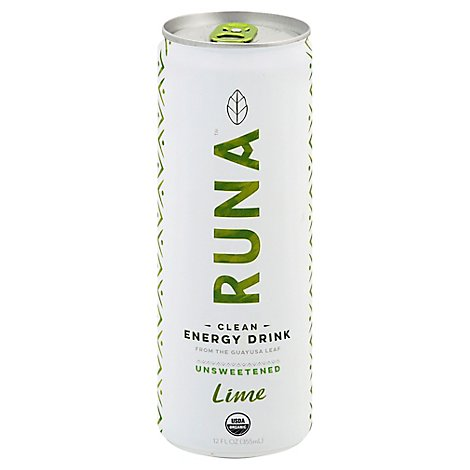 Runa Clean Energy Drink Sparkling Original with Hint of Lime  - 12 Fl. Oz.