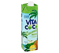 Vita Coco Coconut Water Pure With Pineapple - 33.8 Fl. Oz.