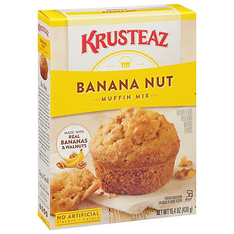Krusteaz Supreme Muffin Mix Banana Nut - 15.4 Oz