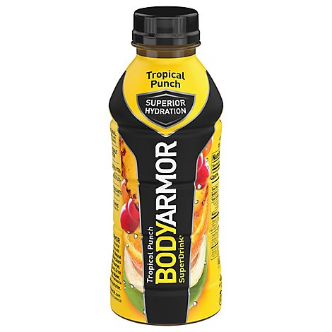 BODYARMOR SuperDrink Sports Drink Tropical Punch - 16 Fl. Oz.