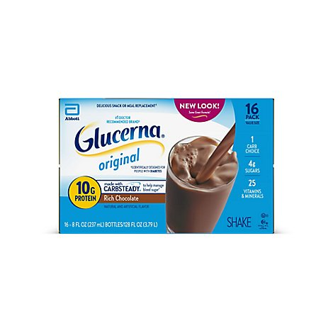 Glucerna Diabetes Nutritional Shake Ready To Drink Rich Chocolate - 16-8 Fl. Oz.