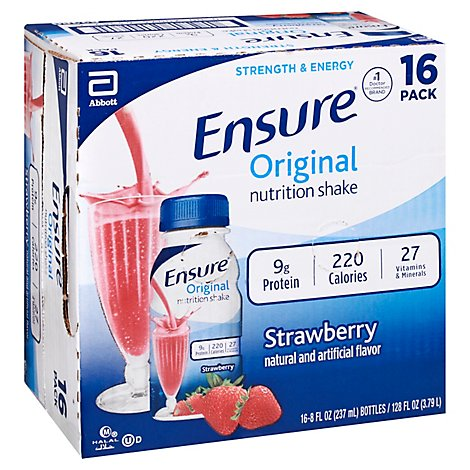 Ensure Nutrition Shake Original Strawberry - 16-8 Fl. Oz.