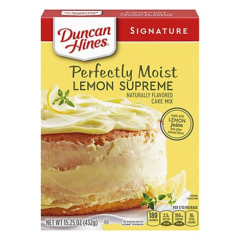 Duncan Hines Signature Cake Mix Moist Lemon Supreme - 16.5 Oz