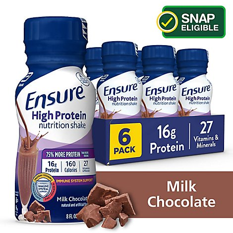 Ensure High Protein Nutrition Shake Ready To Drink Milk Chocolate - 6-8 Fl. Oz.