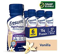 Ensure High Protein Nutrition Shake Ready To Drink Vanilla - 6-8 Fl. Oz.