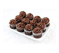 Bakery Cupcake Mini Chocolate 12 Count - Each