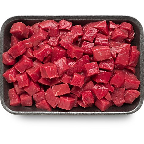 Meat Counter Beef USDA Choice Stew Meat Boneless Extra Lean - 1 LB