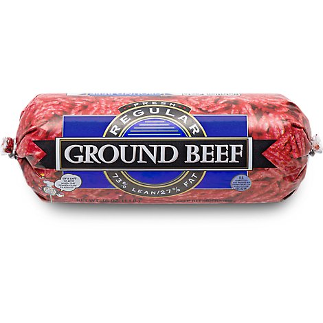 Meat Counter Beef Ground Beef Chub 73% Lean 27% Fat - 16 Oz