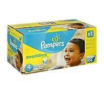 Pampers Swaddlers Diapers Size 4 (22-37 lb) Giant Pack - 104 Count