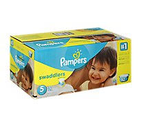Pampers Swaddlers Diapers Size 5 (27+ lb) Sesame Beginnings - 92 Count