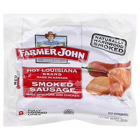 Farmer John Hot Louisiana Brand Smoked Sausage - 28 Oz