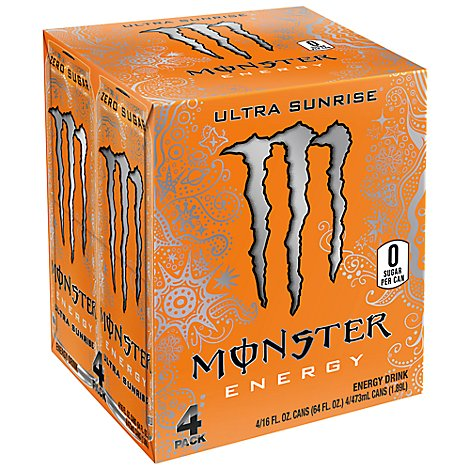 Monster Energy Drink Zero Sugar Ultra Sunrise - 4-16 Fl. Oz.