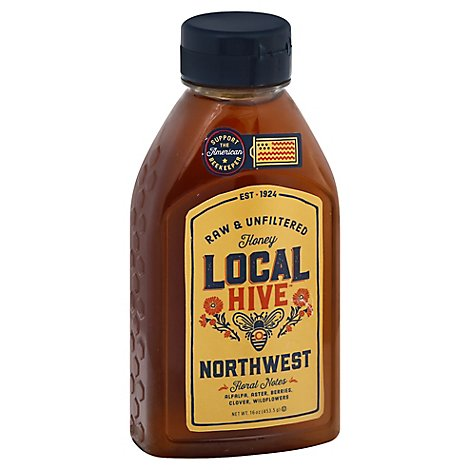 Local Hive Honey Raw & Unfiltered Northwest - 16 Oz