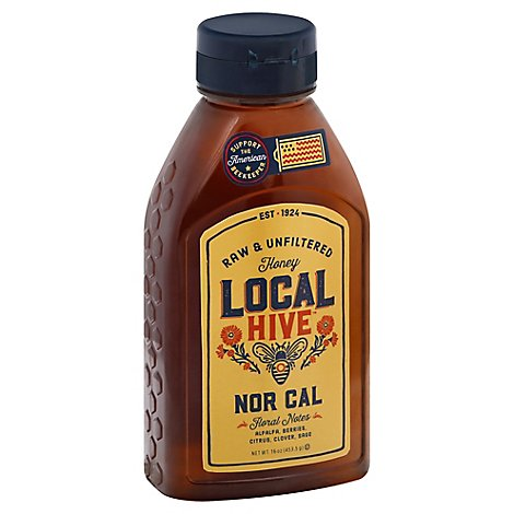 Local Hive Honey Raw & Unfiltered Nor Cal - 16 Oz