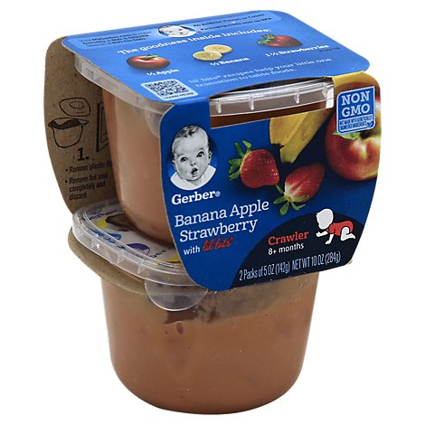 Gerber 3rd Foods Baby Food Lil Bits With Banana Apple Strawberry - 2-5 Oz