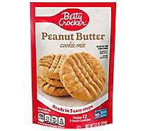 Betty Crocker Cookie Mix Peanut Butter Snack Size - 7.2 Oz