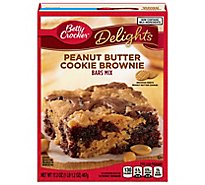 Betty Crocker Bar Mix Delights Peanut Butter Cookie Brownie - 17.2 Oz
