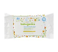 BabyGanics Baby Wipes - 100 Count