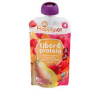 Happy Tot Organics Fiber & Protein Blend Pears Raspberries Butternut Squash - 4 Oz