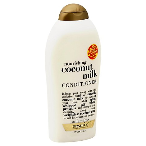 OGX Coconut Milk Conditioner Nourishing Sulfate Free - 19.5 Fl. Oz.