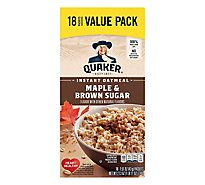 Quaker Oatmeal Instant Maple & Brown Sugar Value Pack - 18-1.51 Oz