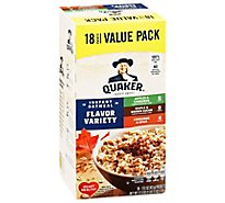 Quaker Oatmeal Instant Flavor Variety Value Pack - 18-1.51 Oz