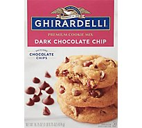 Ghirardelli Chocolate Cookie Mix Premium Dark Chocolate Chip - 16.75 Oz