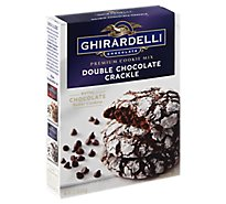 Ghirardelli Chocolate Cookie Mix Premium Double Chocolate Crackle - 13.2 Oz
