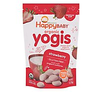Happy Baby Organics Yogis Yogurt & Fruit Mixed Fruit Snacks Strawberry - 1 Oz