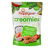 Happy Baby Organics Veggie & Fruit Snacks Coconut Milk Apple Spinach Pea & Kiwi Creamies - 1 Oz