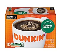 Dunkin Donuts Coffee K-Cup Pods Medium Roast Decaffeinated Dunkin Decaf - 10-0.37 Oz