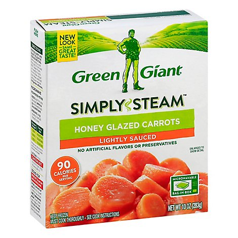 Green Giant Steamers Carrots Honey Glazed Lightly Sauced - 10 Oz