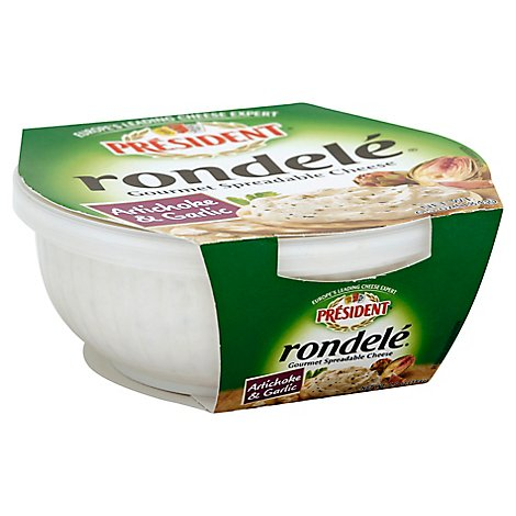 Rondele Cheese Spread Artichoke & Garlic - 6.5 Oz