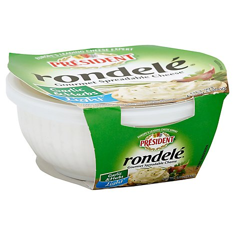 Rondele Cheese Spread Garlic & Herb Light - 6.5 Oz
