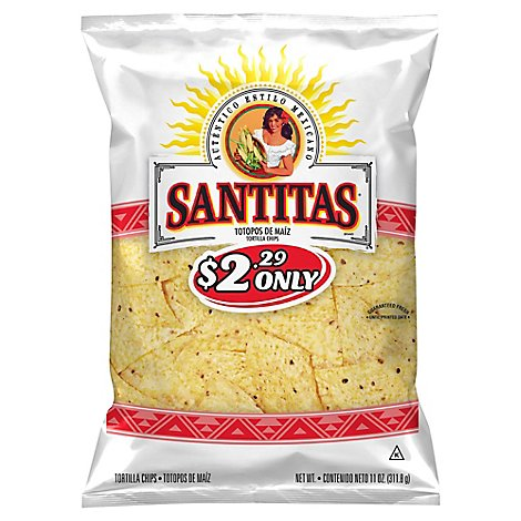 Sanitas Tortilla Triangles White - 11 Oz